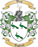 Heap Family Coat of Arms from England