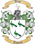 Heape Family Coat of Arms from England
