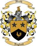 Heath Family Crest from England