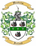 Heavrin Family Crest from Ireland
