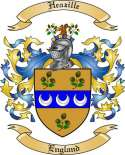 Heazille Family Crest from England