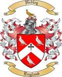 Hedley Family Crest from England