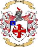 Heenan Family Crest from Ireland