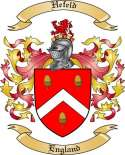 Hefeld Family Crest from England
