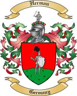 Herman Family Coat of Arms from Germany