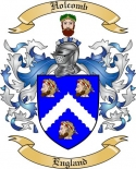 Holcomb Family Coat of Arms from England