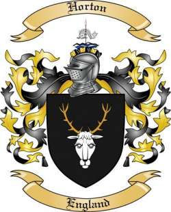 horton family crest from england by the tree maker