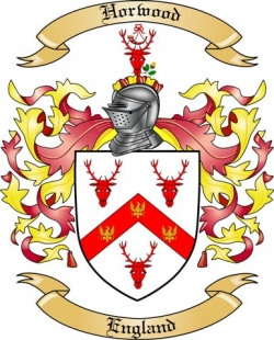 horwood family crest from england by the tree maker