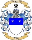 Iannarelli Family Crest from Italy