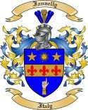 Iannelly Family Crest from Italy