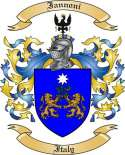 Iannoni Family Crest from Italy2