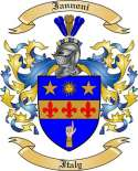 Iannoni Family Crest from Italy