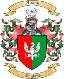 Ilston Family Coat of Arms from England