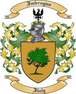 Imbrogno Family Coat of Arms from Italy