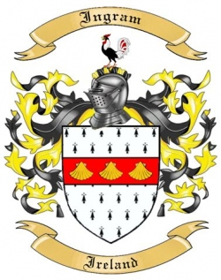 Ingram Family Crest from Ireland