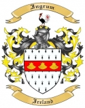 Ingrum Family Crest from Ireland