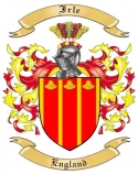 Irle Family Coat of Arms from England