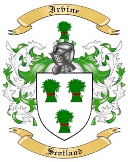 Irvine Family Crest From Scotland By The Tree Maker