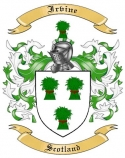 Irvine Family Crest from Scotland