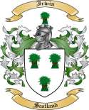 Irwin Family Coat of Arms from Scotland