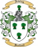 Irwing Family Coat of Arms from Scotland