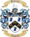 Jacksone Family Crest from England