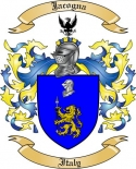 Jacogna Family Crest from Italy
