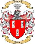 Jacquat Family Crest from France