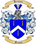 Jacques Family Crest from France