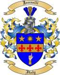 Jannelli Family Crest from Italy