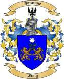 Jannone Family Crest from Italy