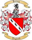 Jansey Family Crest from England