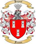 Jaquot Family Coat of Arms from France