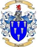 Jarvis Family Crest from England