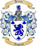 Jeanes Family Coat of Arms from England