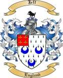 Jeff Family Crest from England