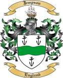 Jempson Family Crest from England