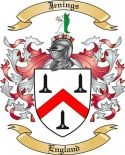 Jenings Family Coat of Arms from England