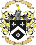Jenkin Family Crest from Scotland
