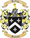 Jenking Family Coat of Arms from Scotland