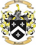 Jenkins Family Coat of Arms from Scotland