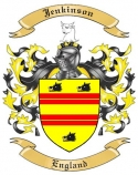 Jenkinson Family Coat of Arms from England