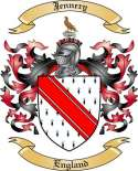 Jennery Family Coat of Arms from England