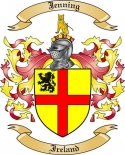 Jenning Family Crest from Ireland