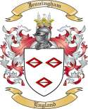 Jenningham Family Crest from England