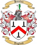Jennins Family Coat of Arms from England