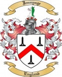 Jennynge Family Crest from England