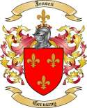 Jensen Family Coat of Arms from Germany