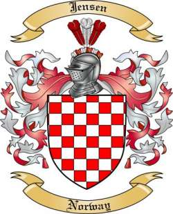 Jensen Family Coat of Arms from Norway