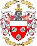 Jentle Family Crest from England